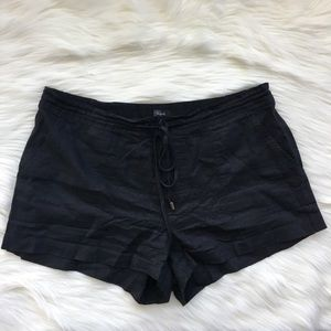 Rails Black Linen Drawstring Shorts Size Small